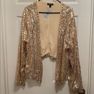 Torrid sequin rose gold blazer